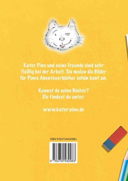 Kater Pino Malbuch 1 Buchrücken