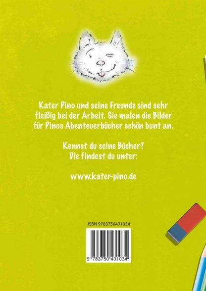 Kater Pino Malbuch 2 Buchrücken